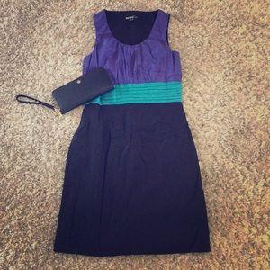 Kensie Colorblock Cocktail Dress